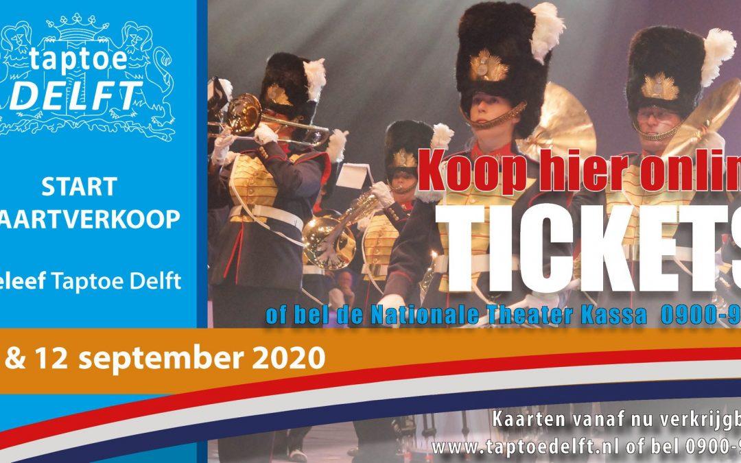 TAPTOE DELFT kondigt start kaartverkoop aan en bevestigt eerste deelnemers  voor de 12e editie in 2020